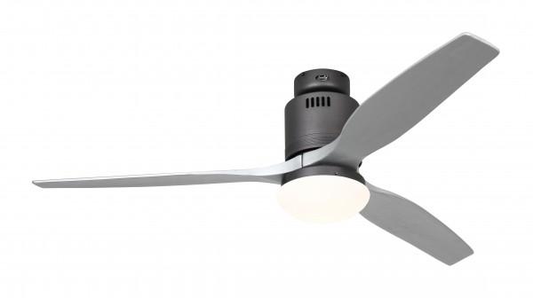 CasaFan Deckenventilator Aerodynamix Eco BG - Basaltgrau - 3 Flügel Silbergrau - mit Leuchte - mit Fernbedienung - energiesparend