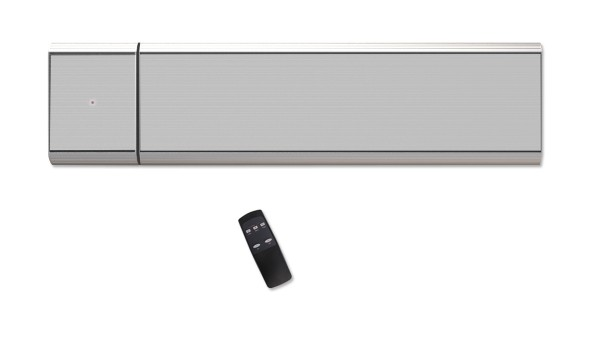 Infrarot Dunkelstrahler CasaTherm Heatpanel 1500W PLUS/D Silbergrau